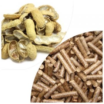 Peanut husk pellets