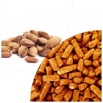 Almond nut shell pellets